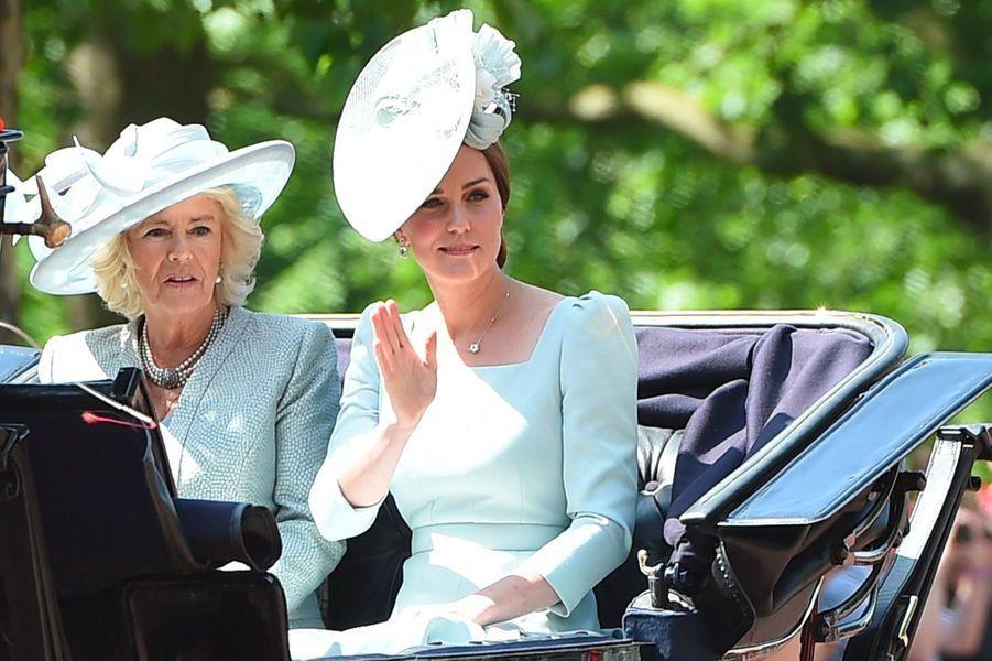 Kate Middleton et Camilla Parker Bowles au Trooping the colour