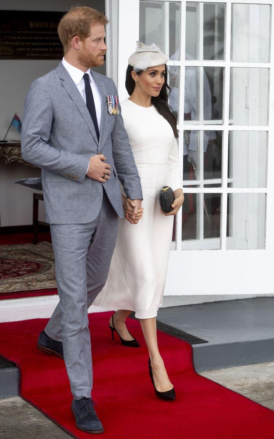 Meghan Markle et le prince Harry àSuva, le 23 octobre 2018