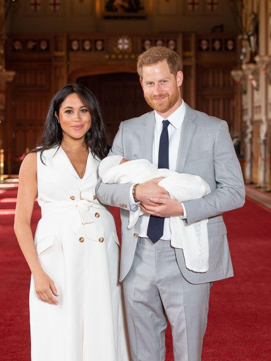 Meghan Markle et le prince Harry au château de Windsor, le 8 mai 2019
