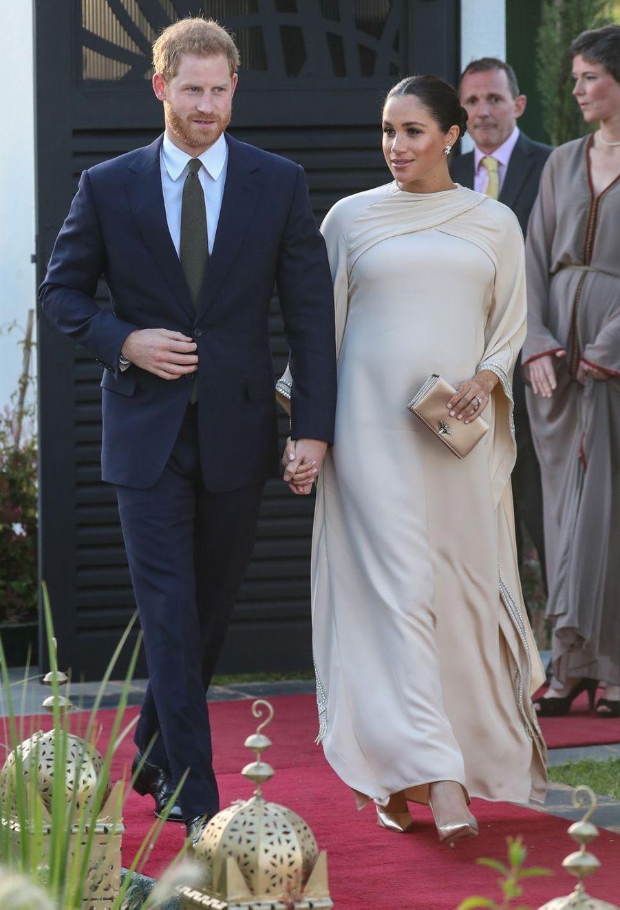 Meghan Markle et le prince Harry àRabat, le 24 février 2019