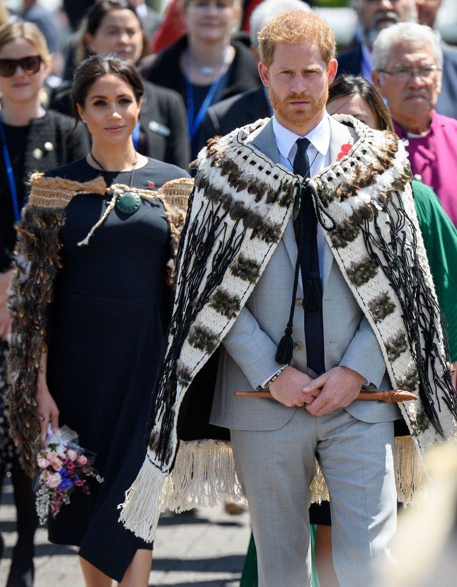 Meghan Markle et le prince Harry àRotorua (Nouvelle-Zélande), le 31 octobre 2018