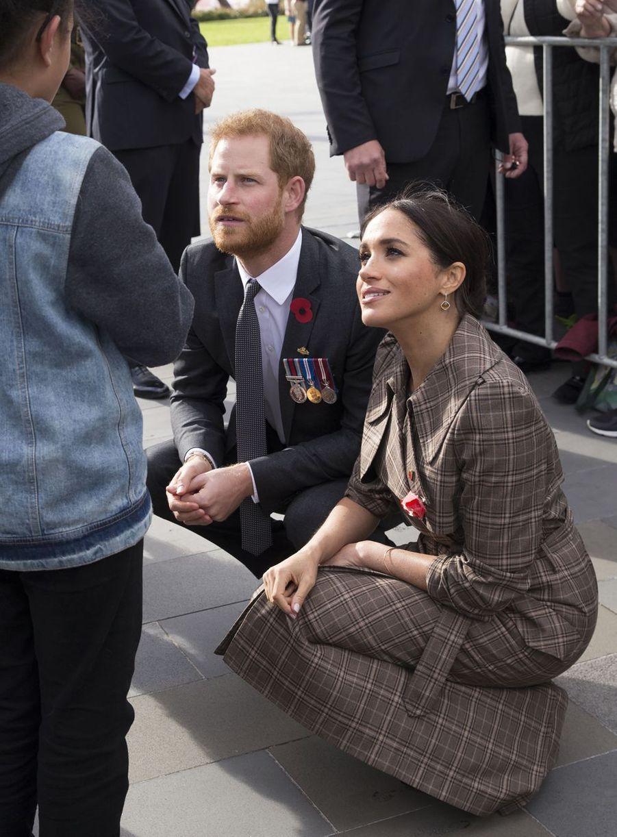 Meghan Markle et le prince Harry àWellington (Nouvelle-Zélande), le 28 octobre 2018
