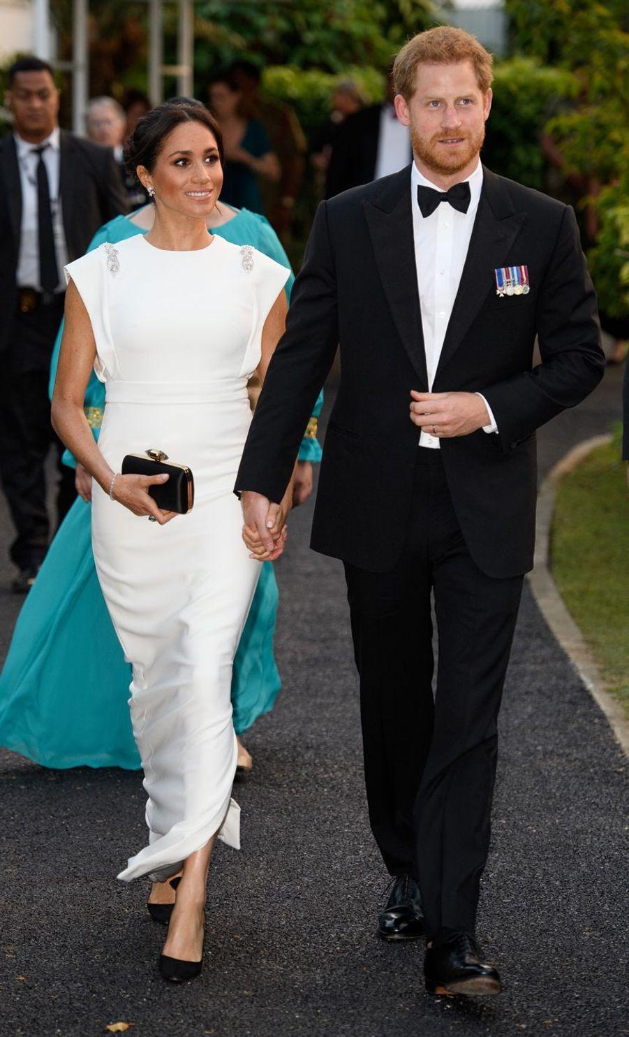 Meghan Markle et le prince Harry sur les îles Tonga, le 25 octobre 2018