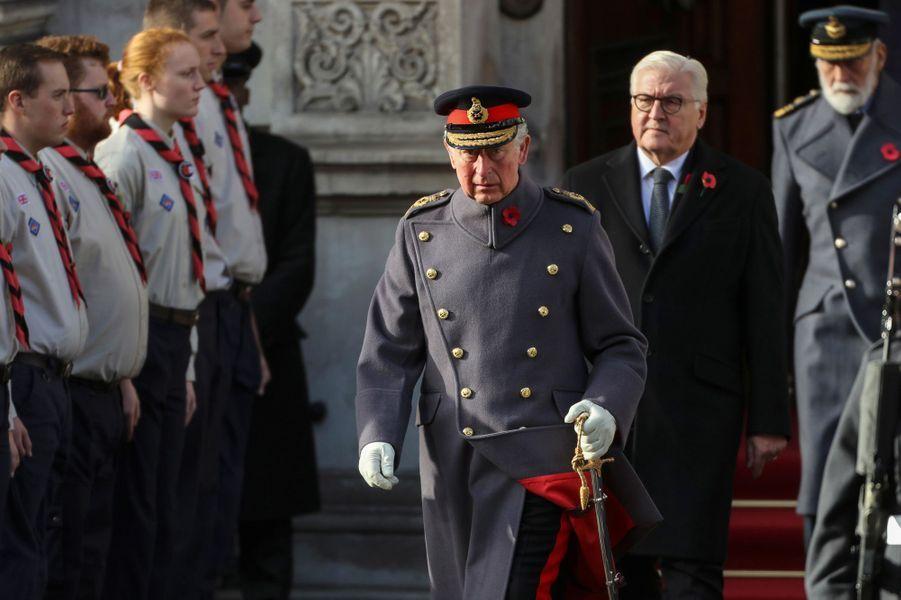 Le prince Charles et le président allemandFrank-Walter Steinmeier aux commémorations du 11-Novembre.