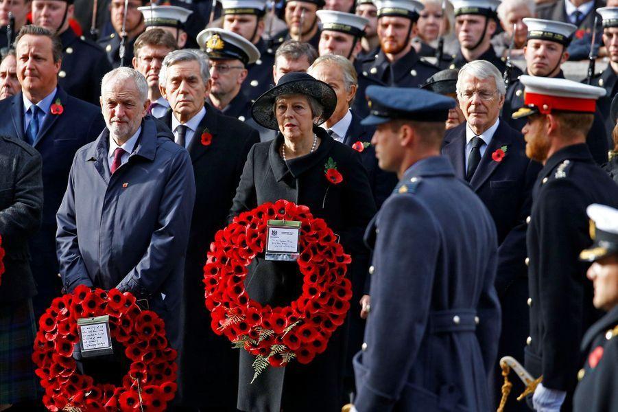 Les princes William et Harryaux commémorations du 11-Novembre.