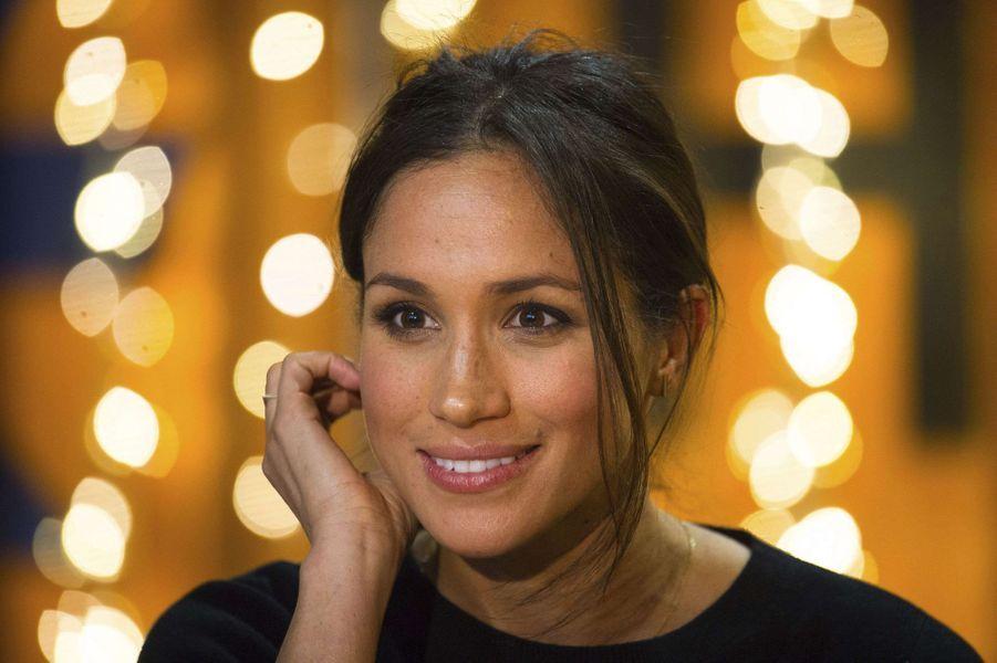 Meghan souriante le 9 janvier 2018.