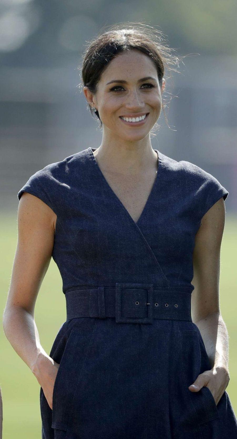 Meghan souriante le 26 juillet dernier.