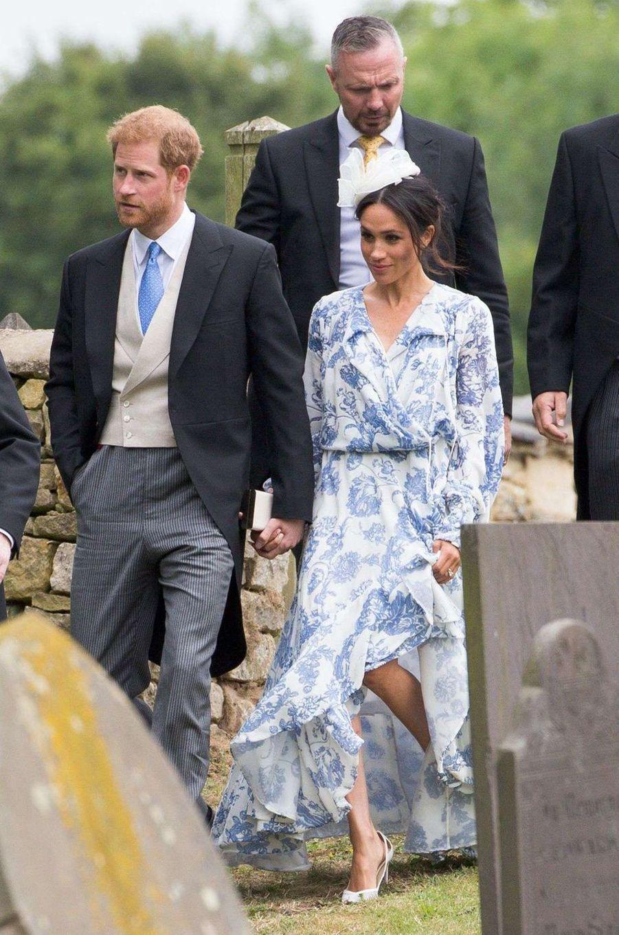 Meghan Markle à Stoke Rochford avec le prince Harry, le 16 juin 2018