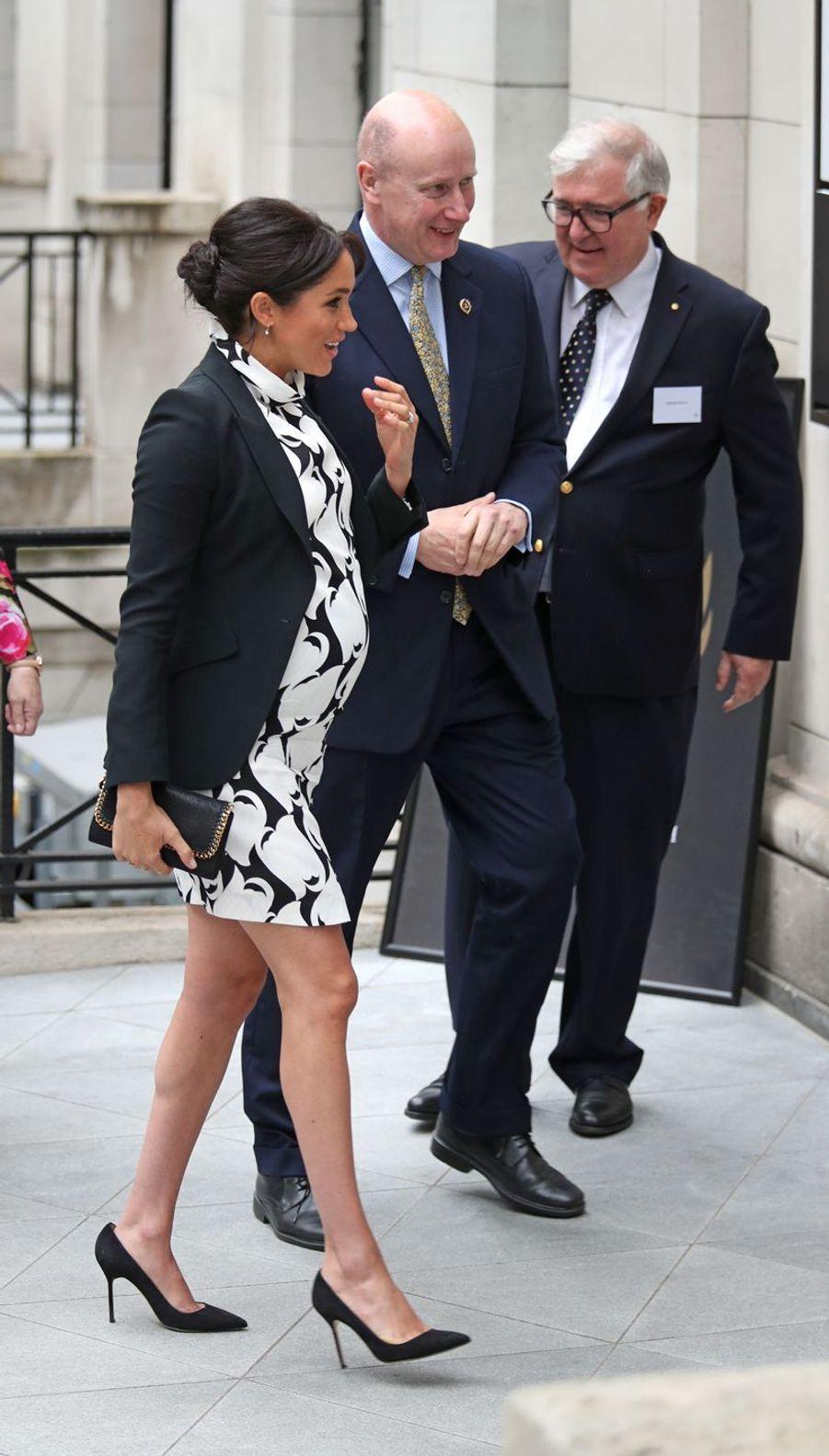 Meghan Markle au King's College London le 8 mars 2019