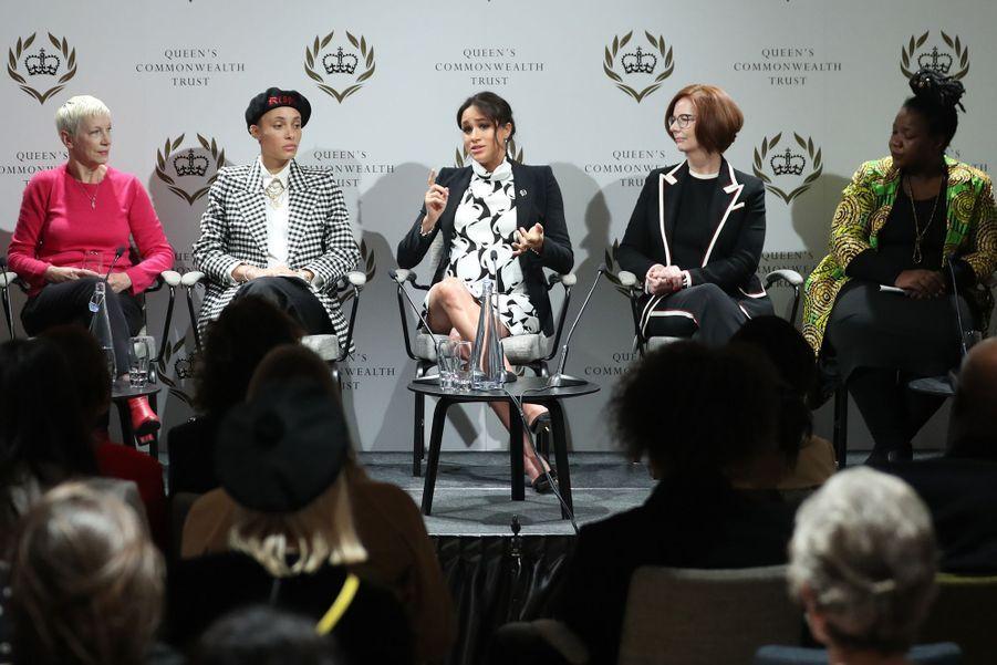 Annie Lennox, Adwoa Aboah, Meghan Markle, Julia Gillard et Angeline Murimirwaau King's College London le 8 mars 2019