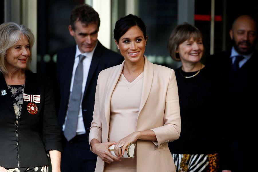 Meghan Markle, la duchesse de Sussex, à Londres le 30 janvier 2019