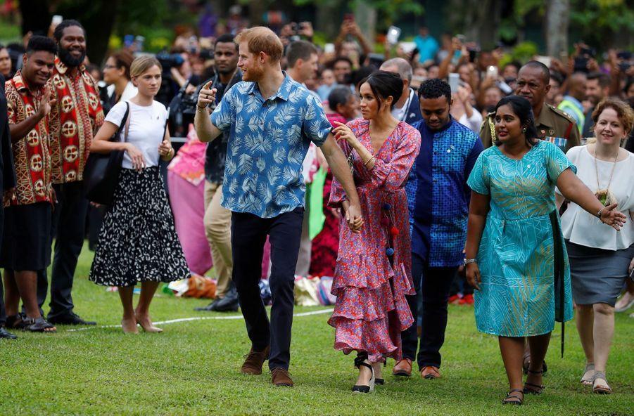 Meghan Et Harry À L'Université Du Pacifique Sud ( 2