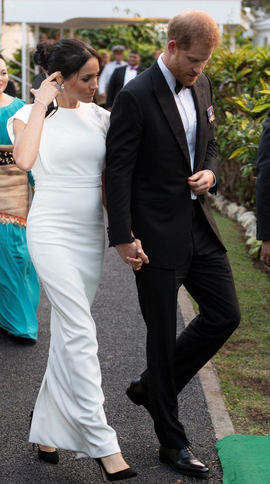 Meghan Et Harry Au Dîner D'Etat Du Roi Tupou VI Du Tonga ( 2