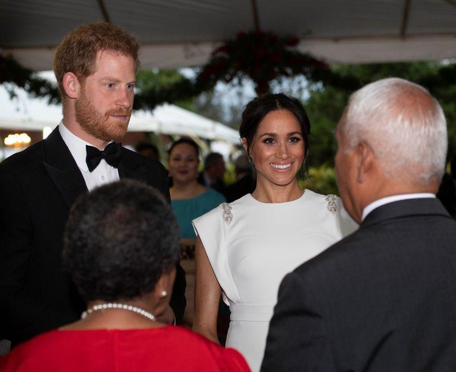 Meghan Et Harry Au Dîner D'Etat Du Roi Tupou VI Du Tonga ( 4