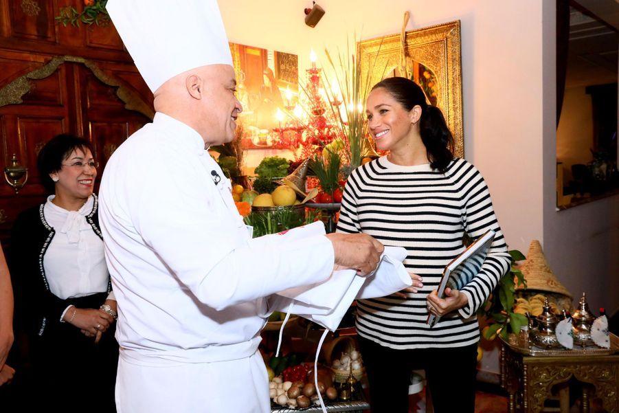 Meghan Markle lors du troisième jour de sa visite au Maroc le 25 février 2019