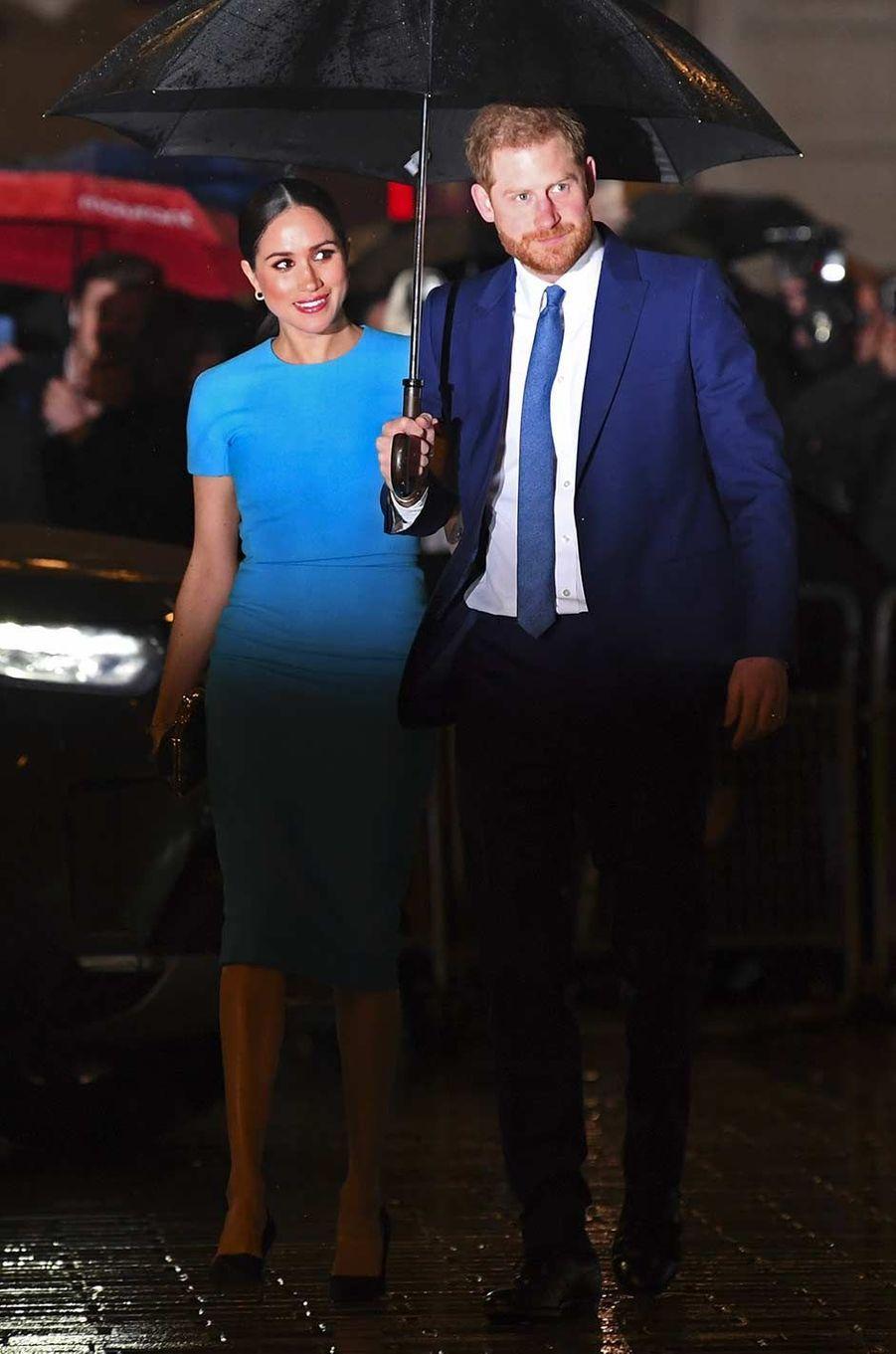 Le prince Harry et Meghan Markle à Londres, le 5 mars 2020.