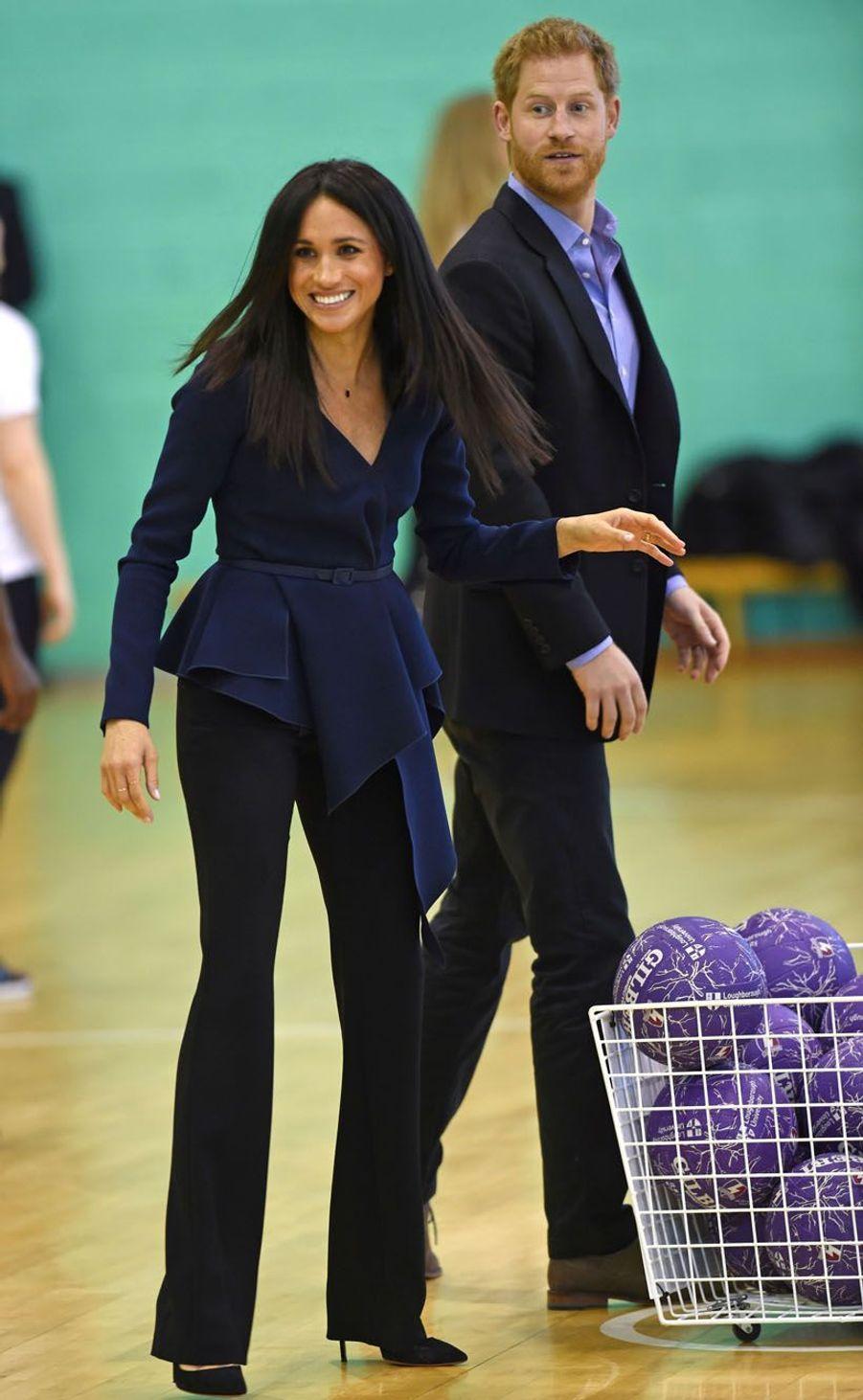 Le duc et la duchesse de Sussex se sont rendus à l'Université de Loughborough cet après-midi afin d'honorer les diplômés du programmeCoach Core de la Royal Foundation.