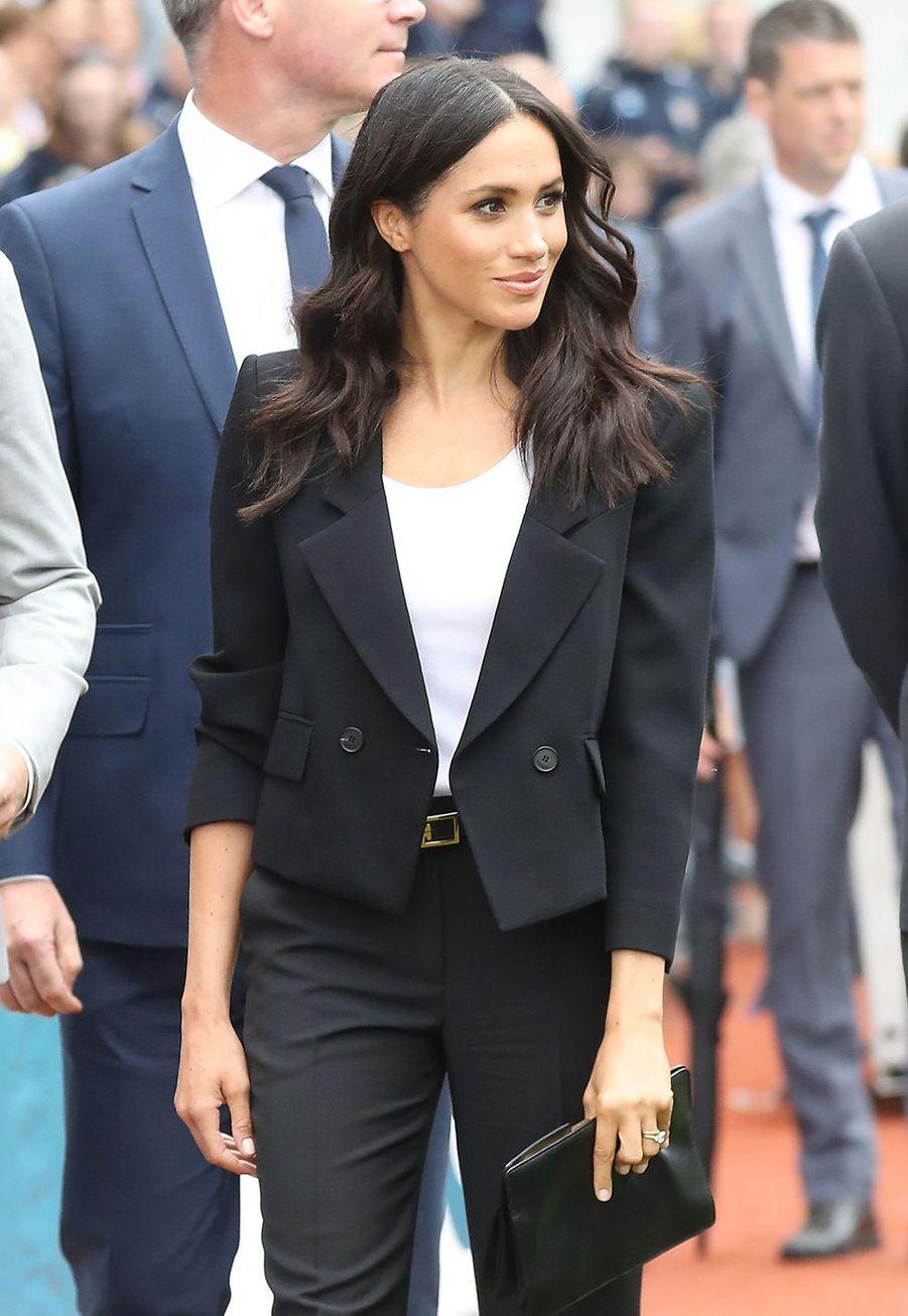 La duchesse de Sussex se rend au Croke Park à Dublin, le 11 juillet 2018