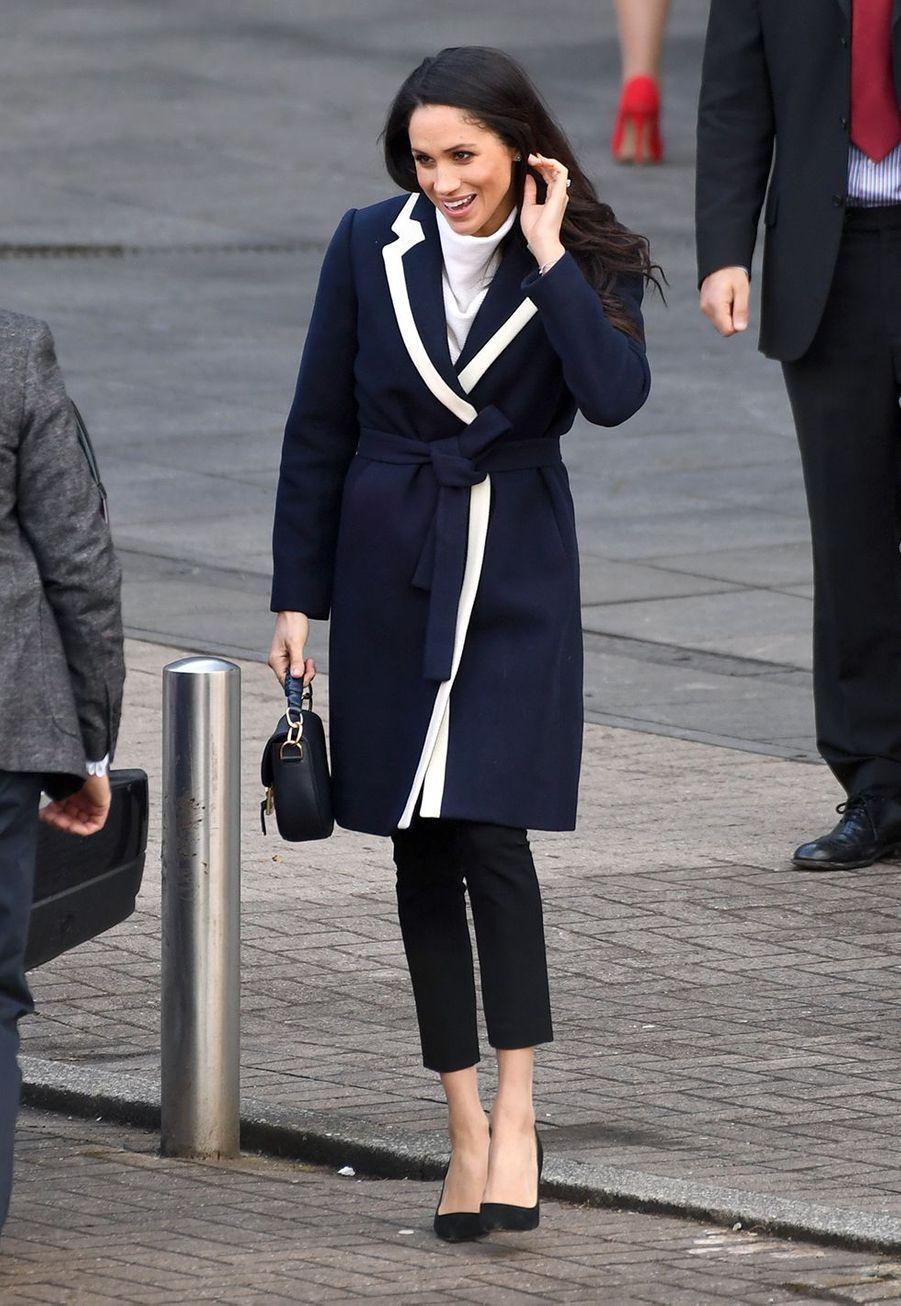 Le prince Harry et Meghan Markle lors de leur visite au Millennium Point à Birmingham, le 8 mars 2018