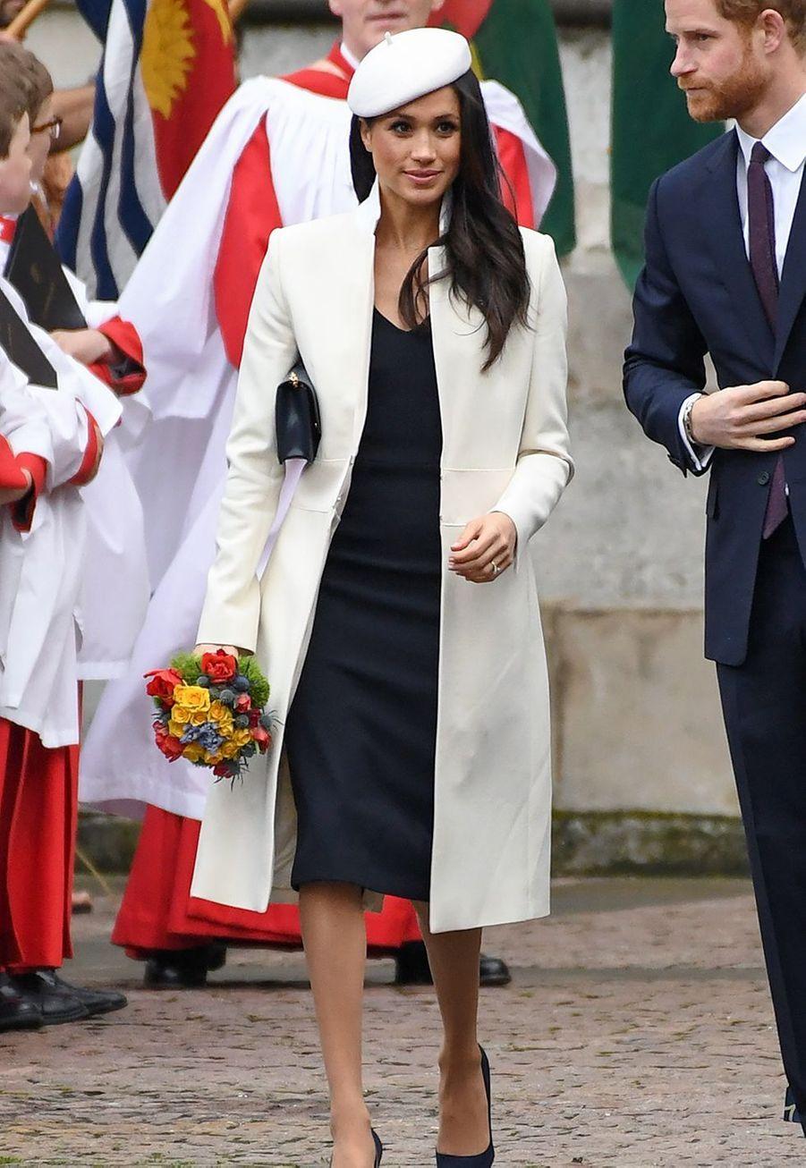 Le prince Harry et Meghan Markle à Westminster Abbey (Londres), le 12 mars 2018.