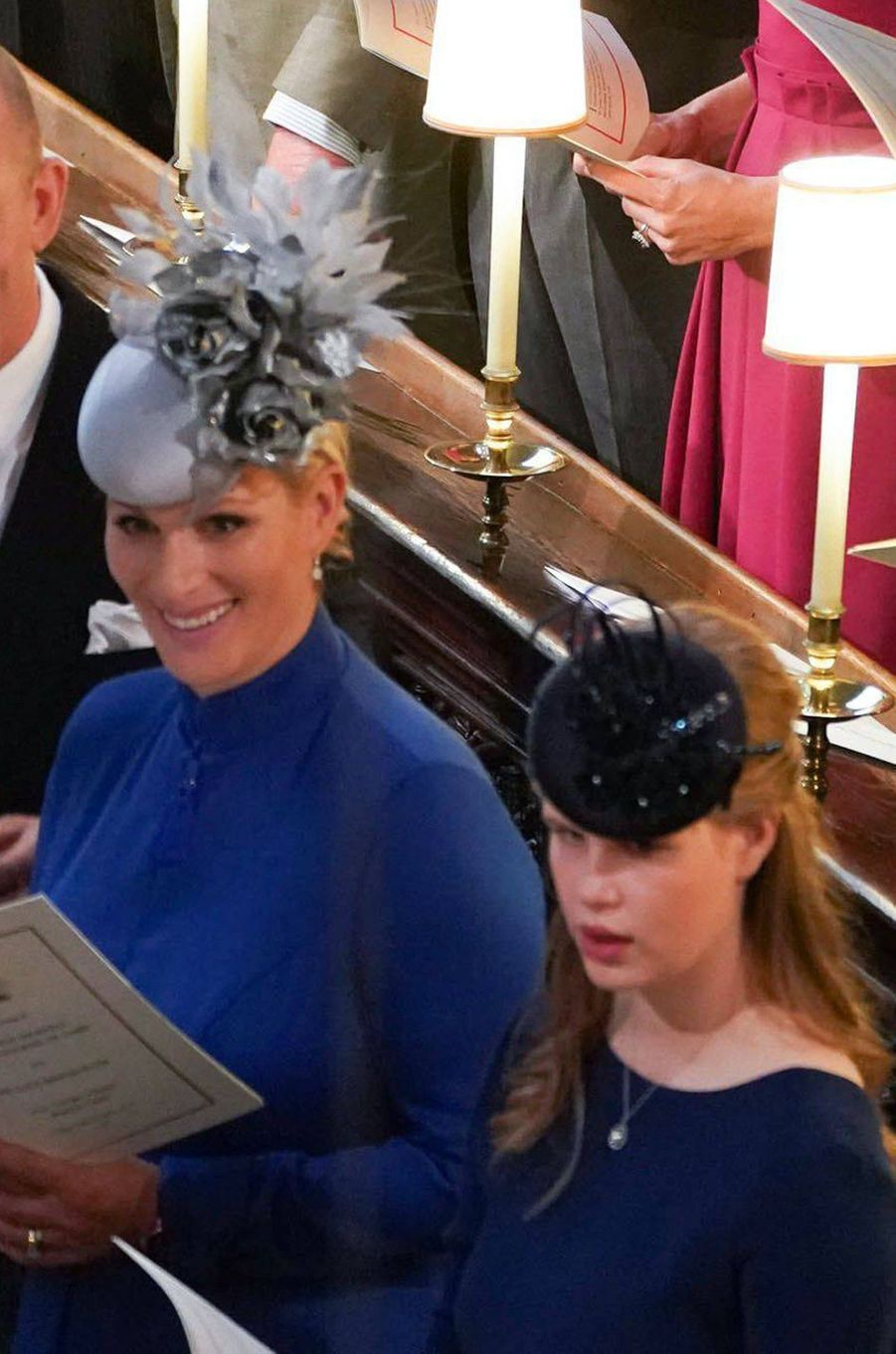 Zara Phillips-Tindall et Lady Louise Windsor à Windsor, le 12 octobre 2018