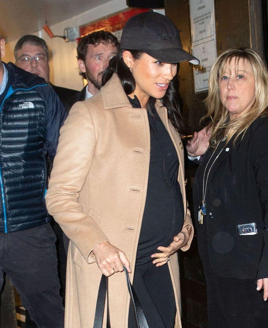 Meghan Markle à la sortie de son hôtel à New York City, le 20 février 2019.