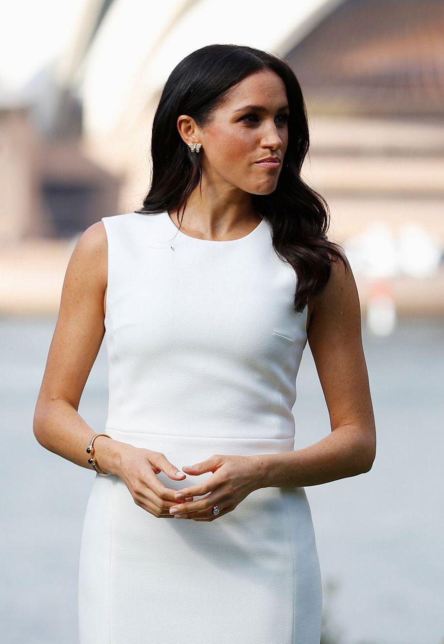 Meghan Markle avait déjà porté les boucles d'oreille (et le bracelet) en octobre 2018 lors de son voyage officiel en Australie