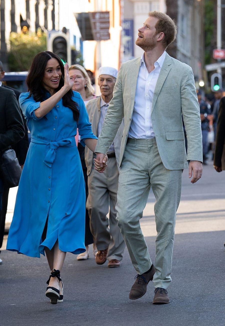Meghan Markle à Cape Town le 25 septembre 2019 lors son voyage en Afrique avec le prince Harry.