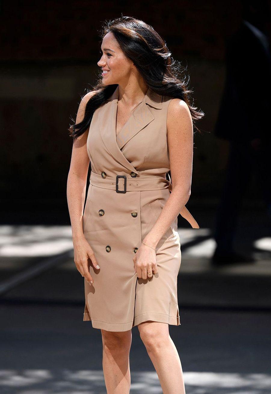 Meghan Markle à Johannesburg le 1er octobre 2019 lors son voyage en Afrique avec le prince Harry.
