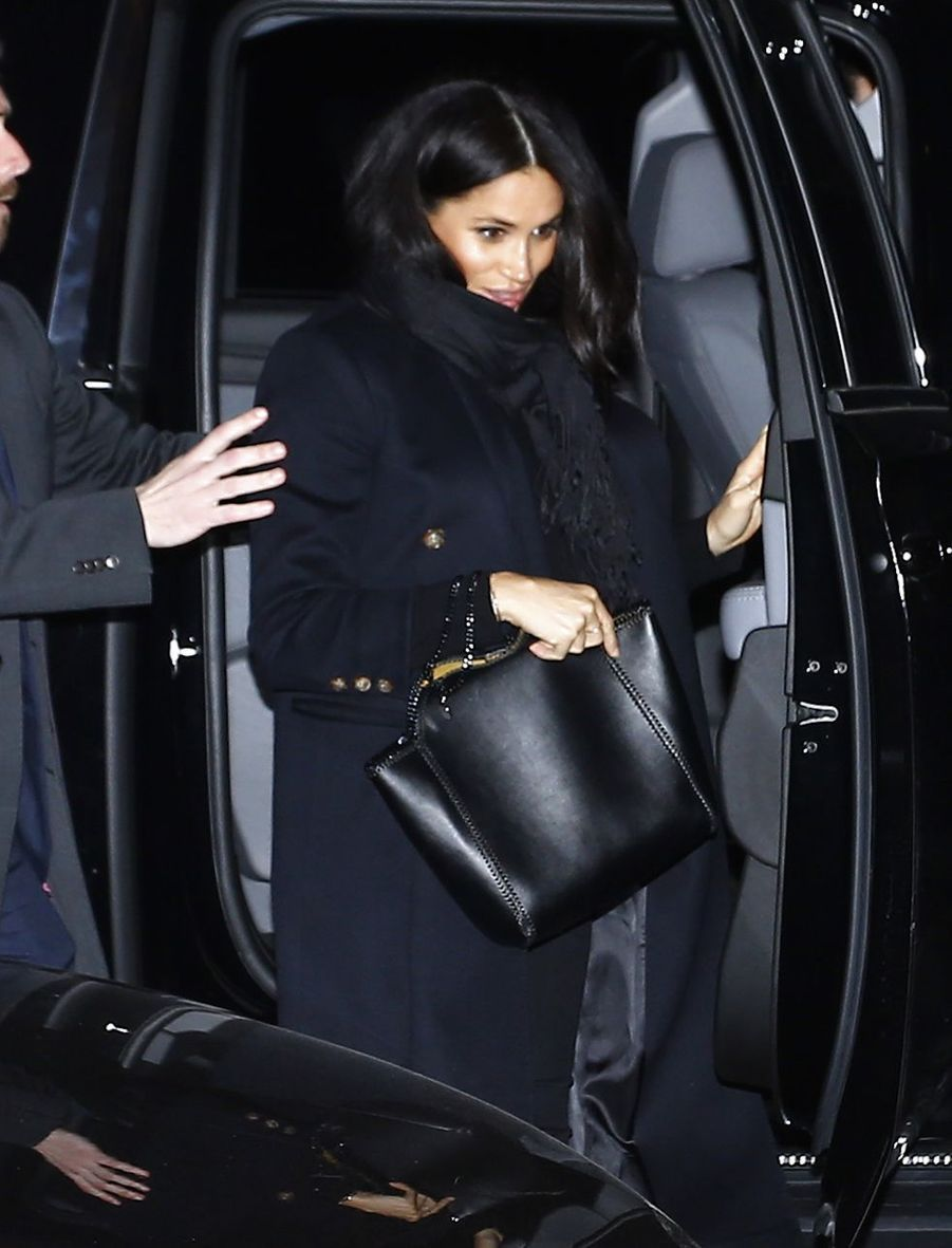 Meghan Markle arrive au restaurant The Polo Bar à New York City, le 19 février 2019.