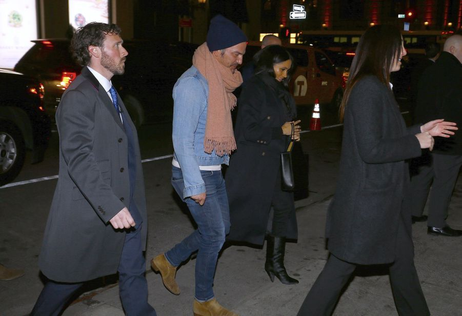 Meghan Markle et Markus Anderson arrivent au restaurant The Polo Bar à New York City, le 19 février 2019.