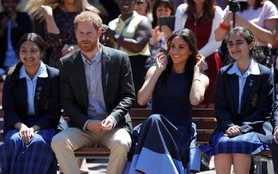 Meghan Et Harry À La Macarthur Girls High School De Sydney ( 5