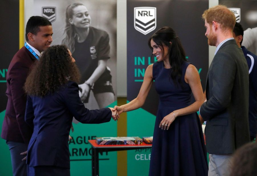 Meghan Et Harry À La Macarthur Girls High School De Sydney ( 6