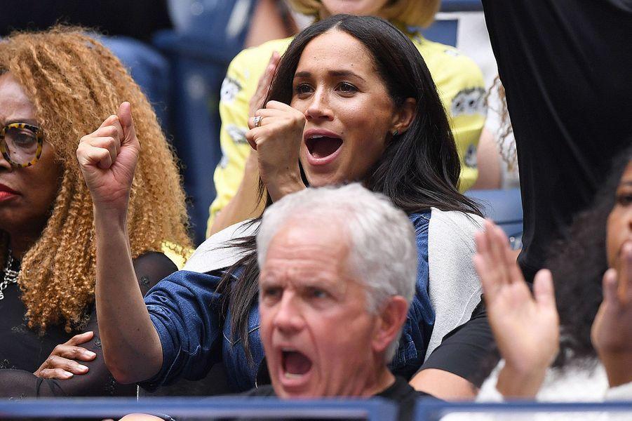 Meghan Markle dans les tribunes de l'US Open, samedi