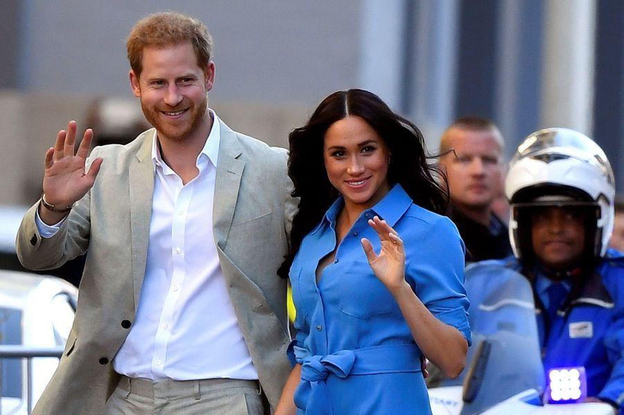 Le prince Harry et Meghan Markle en visite au musée duDistrict 6 au Cap en Afrique du Sud le 23 septembre 2019