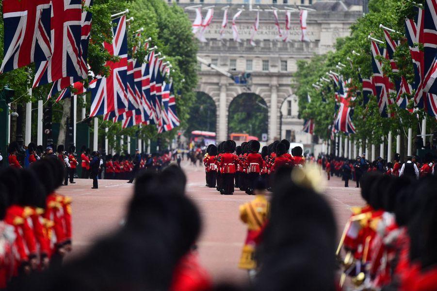 La paradeTrooping the Colour à Londres le 8 juin 2019