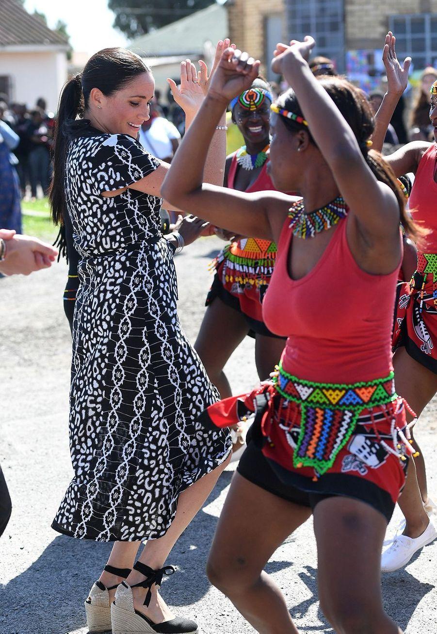 Meghan Markleen visite au township de Nyanga au Cap en Afrique du Sud le 23 septembre 2019