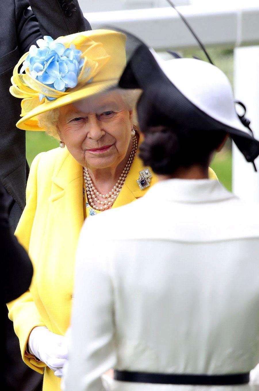 Meghan et Harry, une sortie très remarquée au Royal Ascot, le 19 juin 2018.