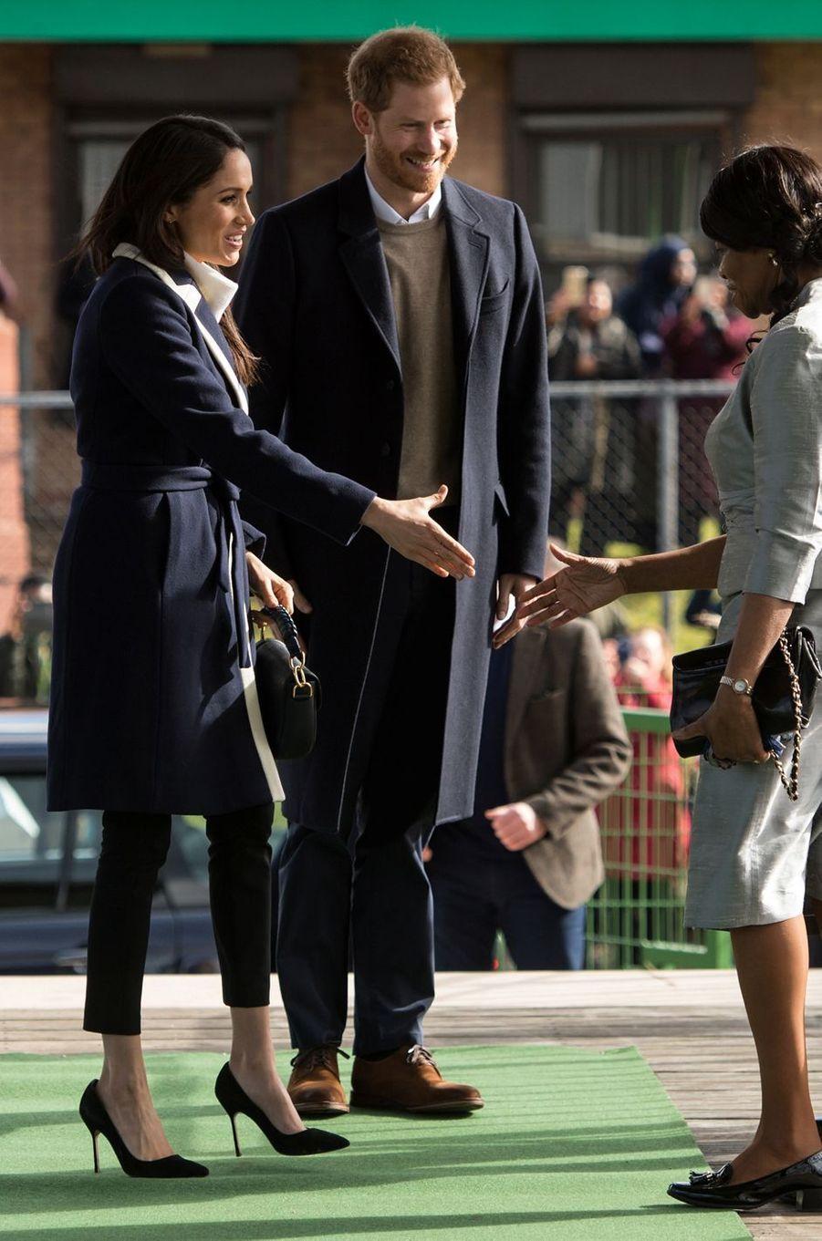 Meghan Markle avec le prince Harry à Birmingham, le 8 mars 2018