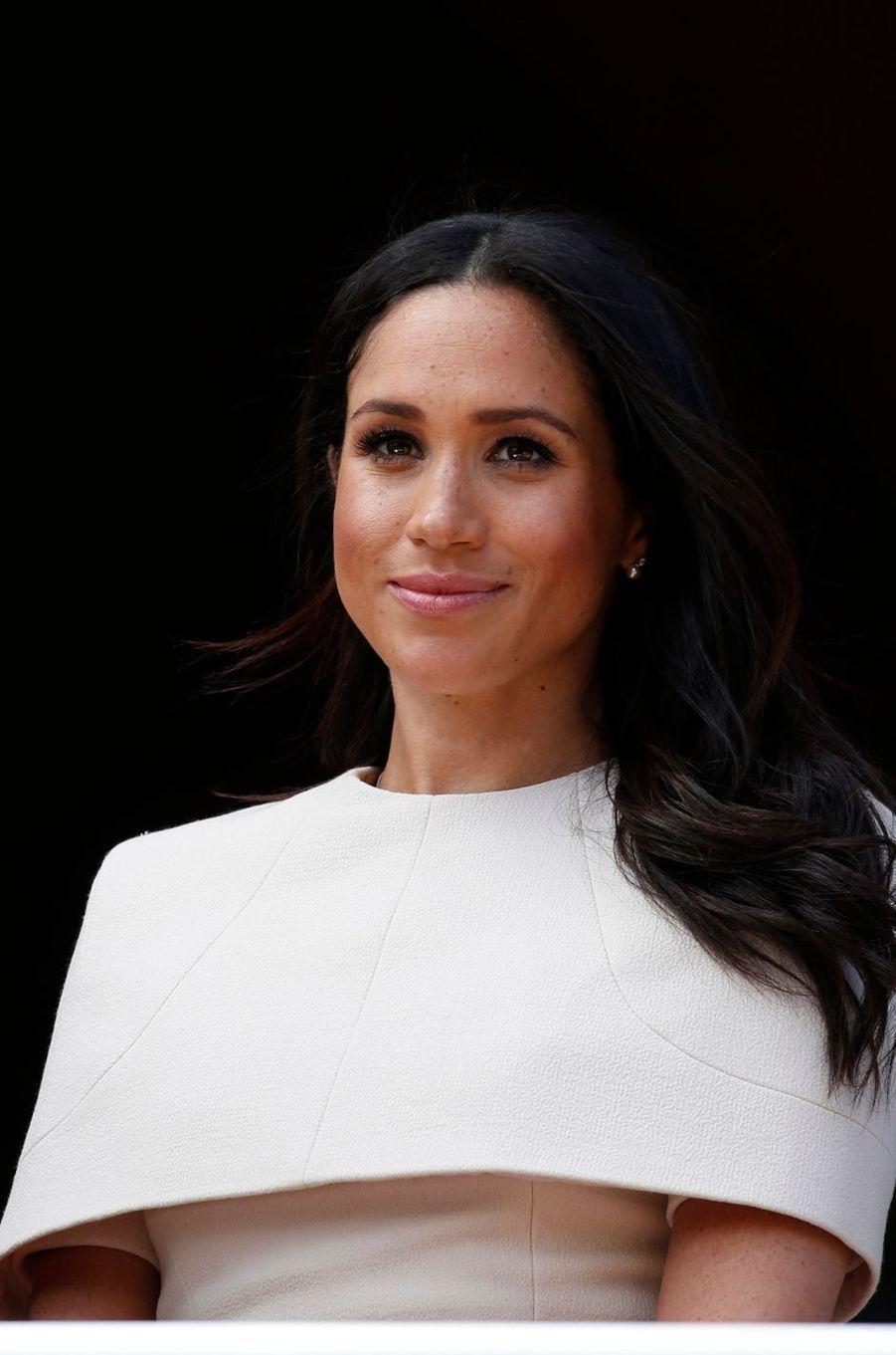 Meghan Markle, duchesse de Sussex, dans le Cheshire le 14 juin 2018