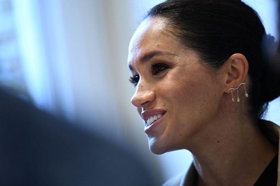 Meghan Markle, duchesse de Sussex, à Londres le 10 janvier 2019