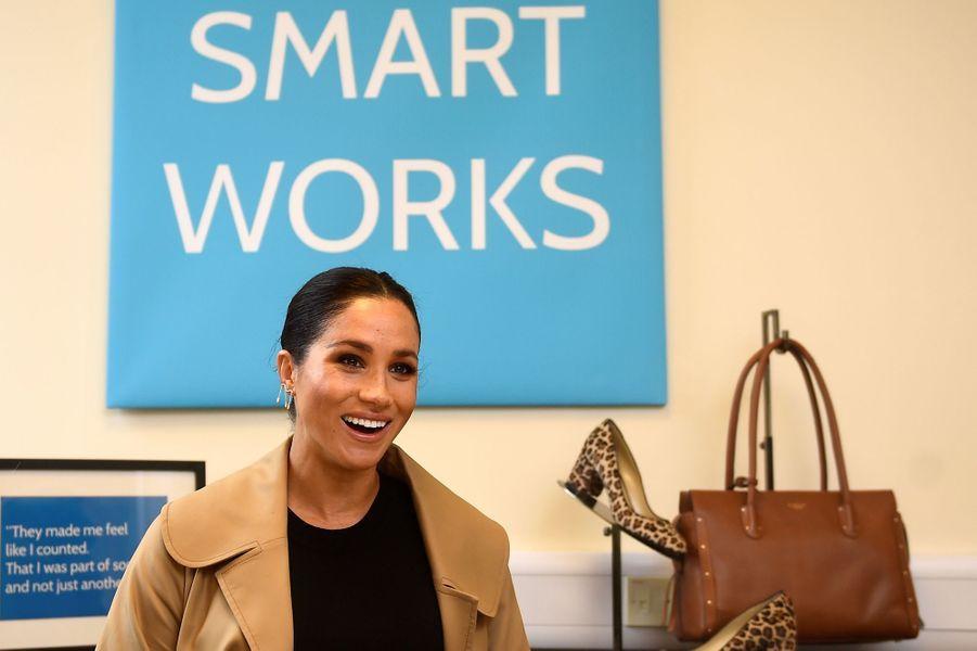 Meghan Markle, duchesse de Sussex, à Smart Works, à Londres le 10 janvier 2019