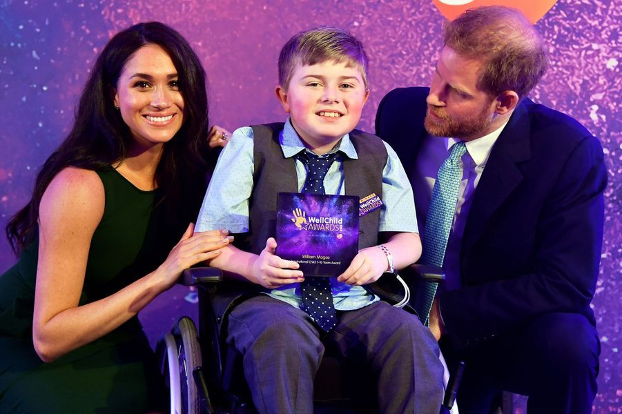 Meghan Markle et le prince Harry aux WellChild Awards au Royal Lancaster Hotel à Londres le 15 octobre 2019