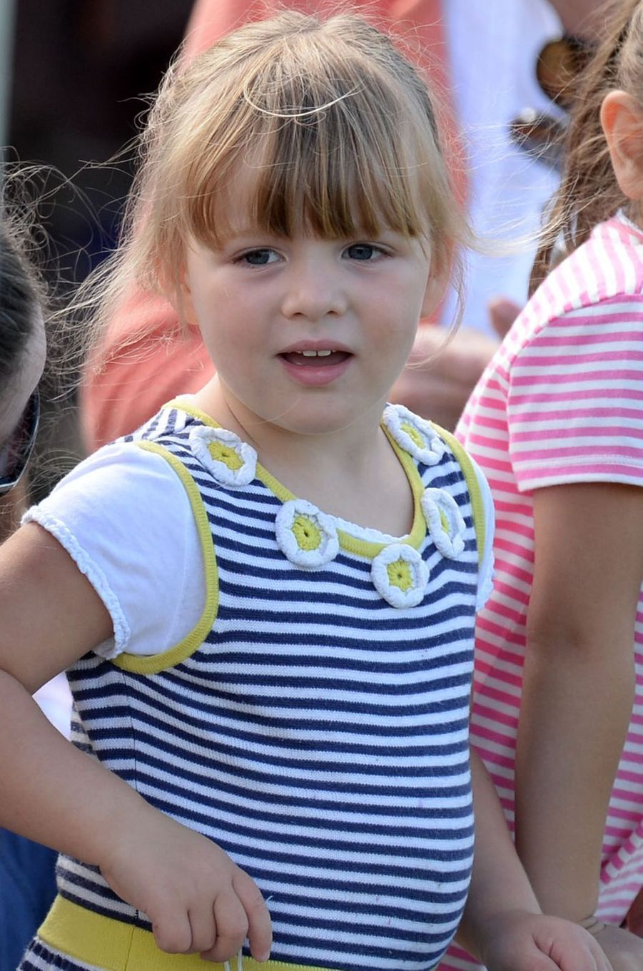 Mia Tindall à Gatcombe Park, le 5 août 2017