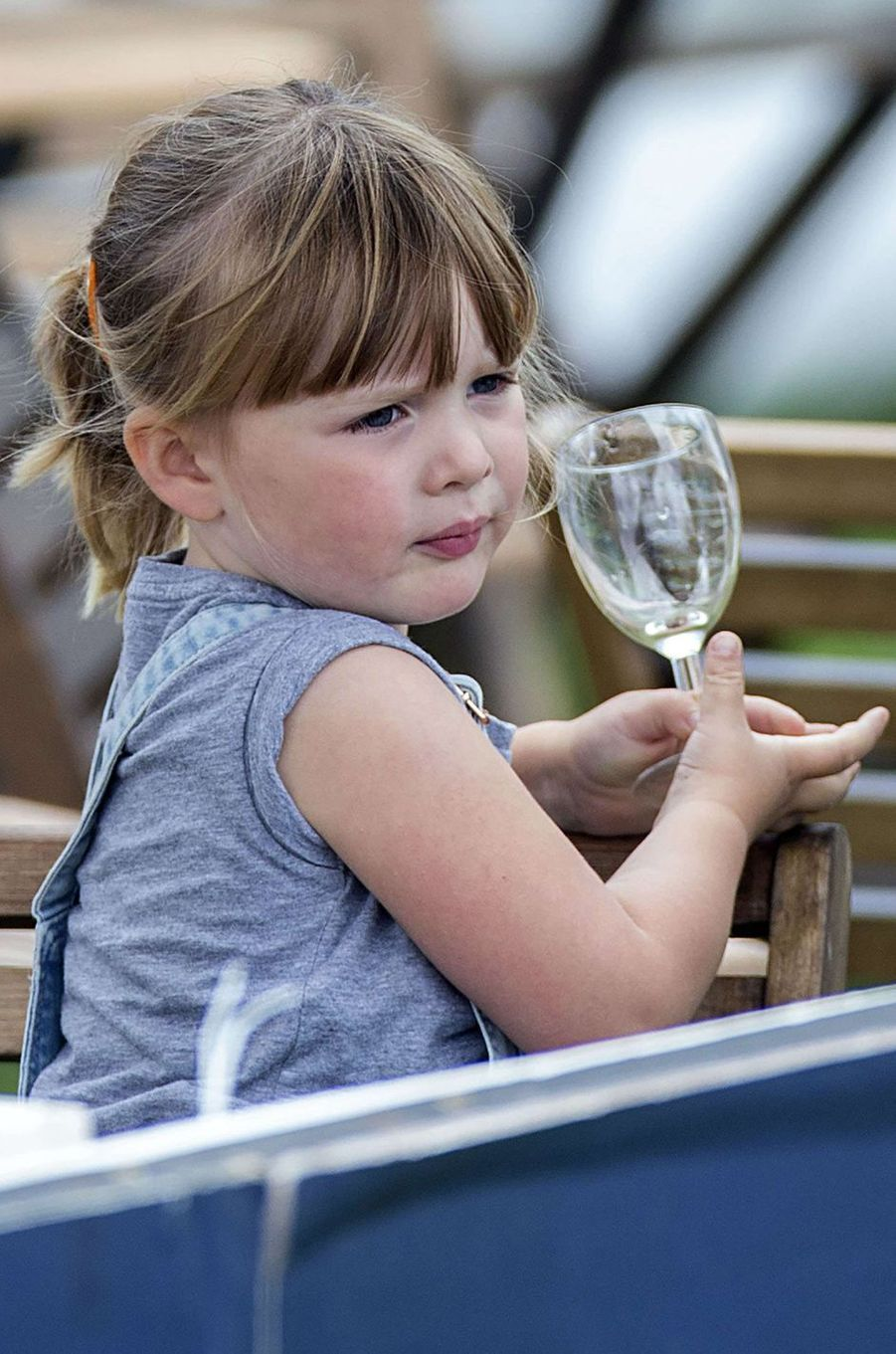 Mia Tindall à Gatcombe Park, le 6 août 2017