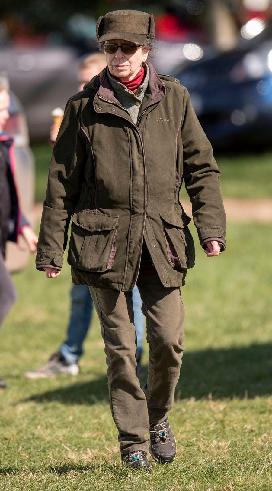 La princesse Anne à Gatcombe Park, le 24 mars 2019