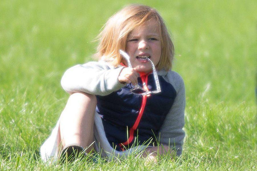 Mia Tindall, arrière-petite-fille de la reine Elizabeth II, à Gatcombe Park le 7 septembre 2018