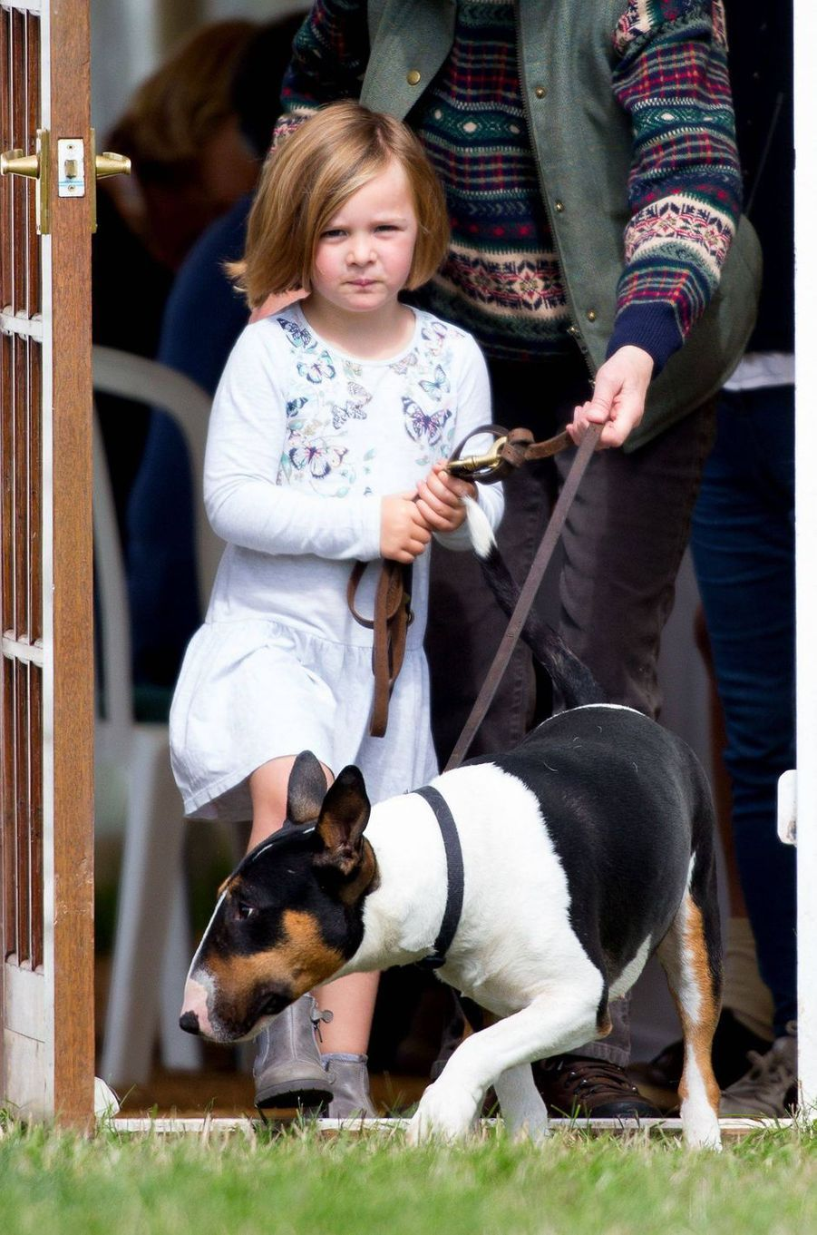 Mia Tindall, la petite-fille de la princesse Anne, à Gatcombe Park le 7 septembre 2018