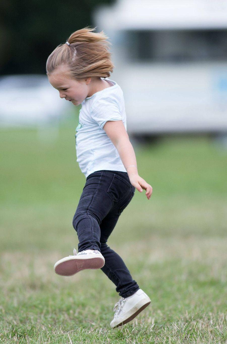 Mia Tindall à Gatcombe Park, le 9 septembre 2018