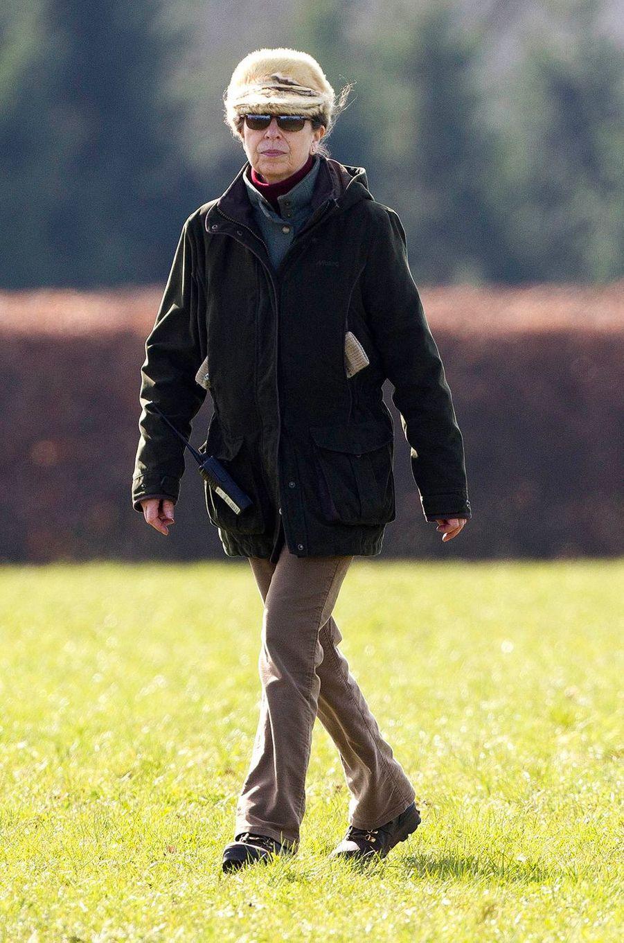 La princesse Anne à Gatcombe Park, le 25 mars 2017